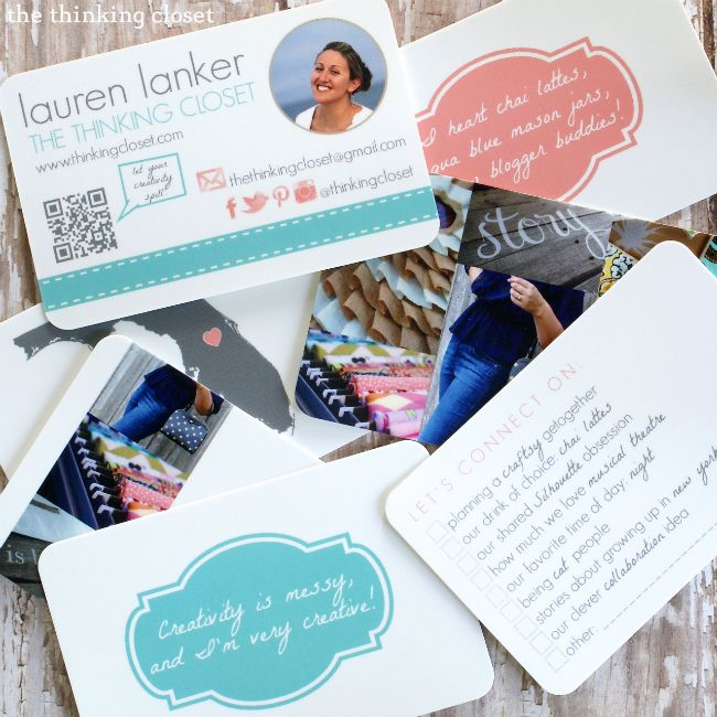 Blogger Business Cards using MOO and PicMonkey! by The Thinking Closet