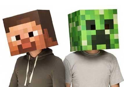 minecraft fancy dress heads