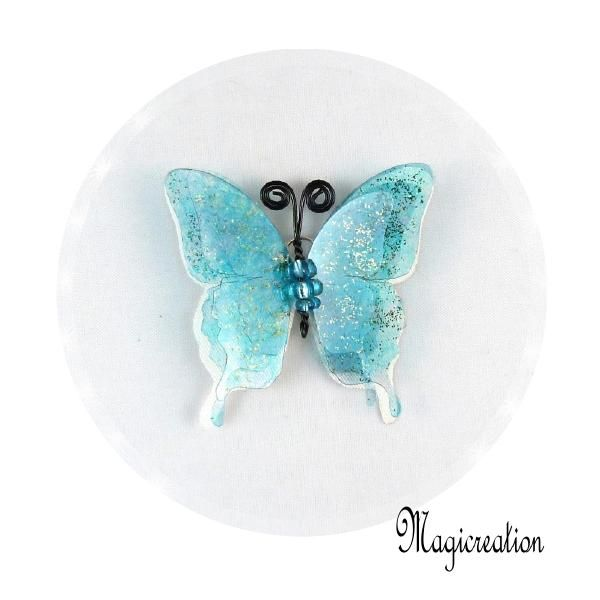 BRELOQUE PAPILLON 3D BLEU - Boutique www.magicreation.fr