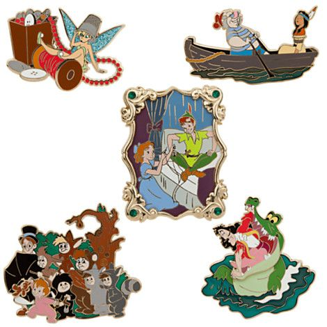 Have to have! Peter Pan Pin Set - 5-Pc. - 60th Anniversary   Pin Sets   Disney Store