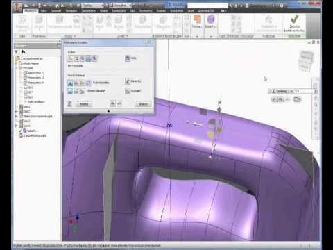 Autodesk Inventor 2015 - freeform modeling - concept of plastic bottle