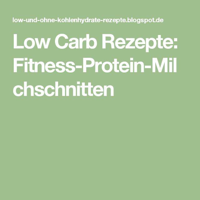 Low Carb Rezepte: Fitness-Protein-Milchschnitten