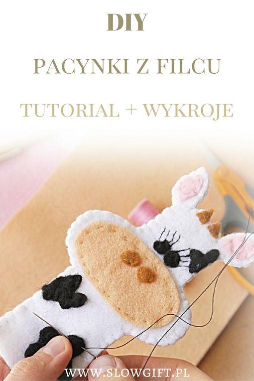 puppets, felt, tutorial, DIY, cut garments / Jak zrobić pacynki z filcu? Pobierz gotowe wykroje do druku - Slow gift