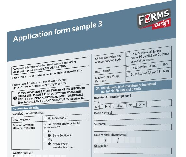 Form Design Sample  HttpWwwFormsdesignComAu  Forms Design