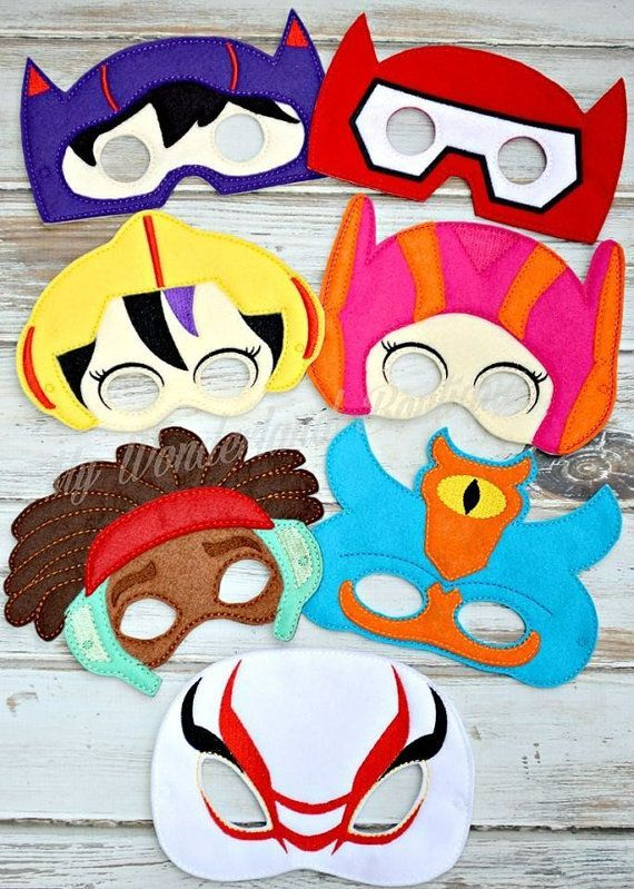 Big hero 6 inspired mask  Handmade Made with Wool felt and acrylic felt Perfect for party favors or gifts dress up If you like to order a