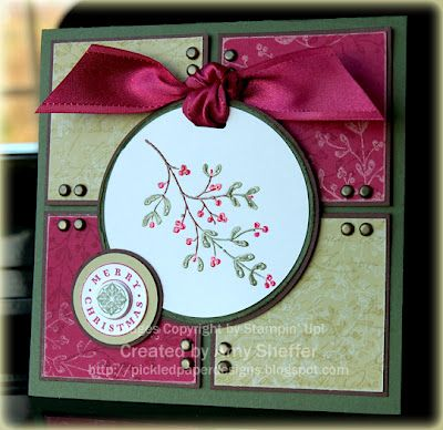 use of bradsChristmascards, Christmas Cards, Cards Design, Scrapbook Cards, Cards Ideas, Stampin Up, Paper Design, Pickles Paper, Cards Templates