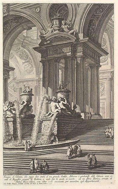 Giovanni Battista Piranesi | Group of columns which support two arches of a great courtyard . . . (Gruppo di Colonne, che regge due archi d'un grande Cortile . . . ) | The Met