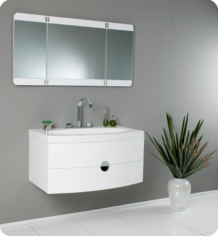 53 best images about white bathroom vanities on pinterest - Modern vanity mirrors for bathroom ...