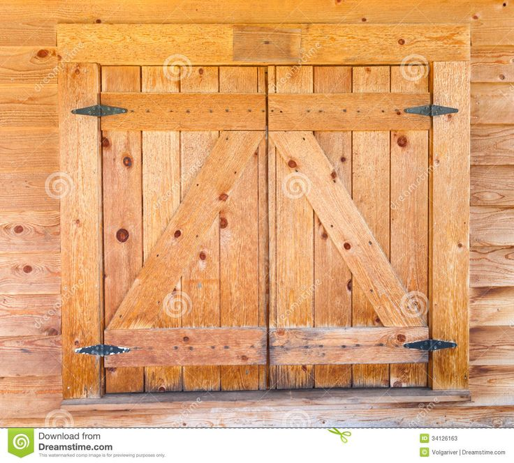 Old door log cabin styles wooden window shutters with for Wood doors and shutters