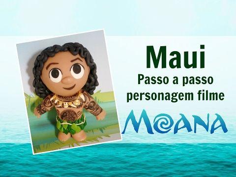 Maui , personagem Moana passo a passo - YouTube