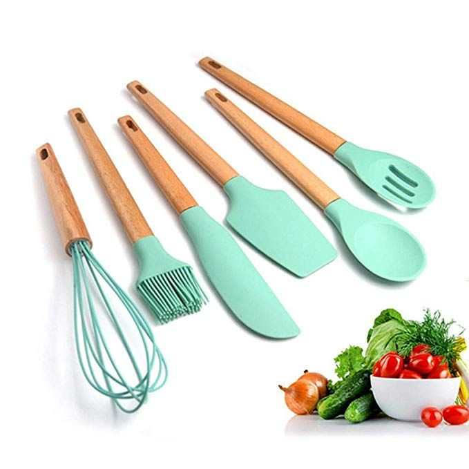 Amazon.com: FOONEE Kitchen Silicone Cookware Set, 6 Sets of ...