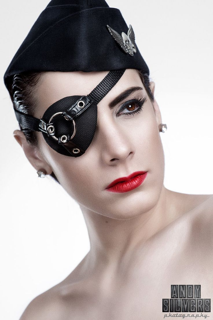 Gothfox Designs - Mr. O Ring Industrial Mens Eye Patch. Because eyepatches are cool.