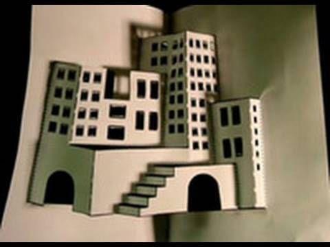 Kolmiulotteinen kaupunki paperista • Ydinjate.org