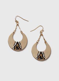 Beaded Hooped Drop Earrings from Dorothy Perkins £6,50