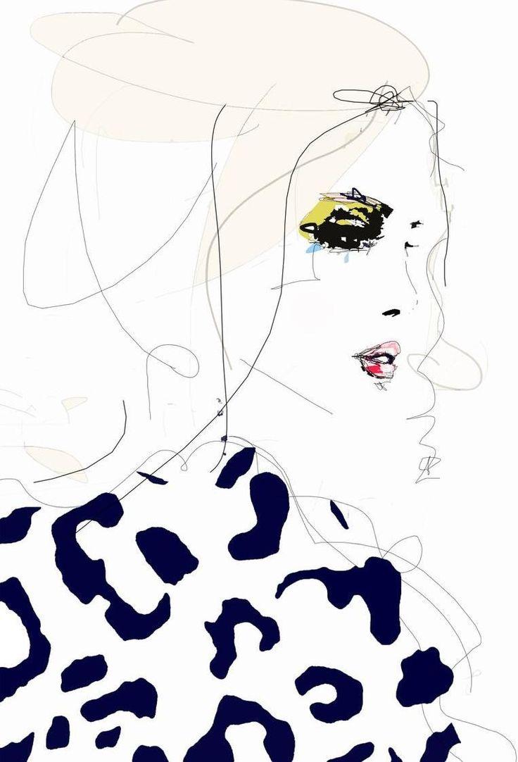 Draw the line as Aluminium Print by Leigh Viner   JUNIQE