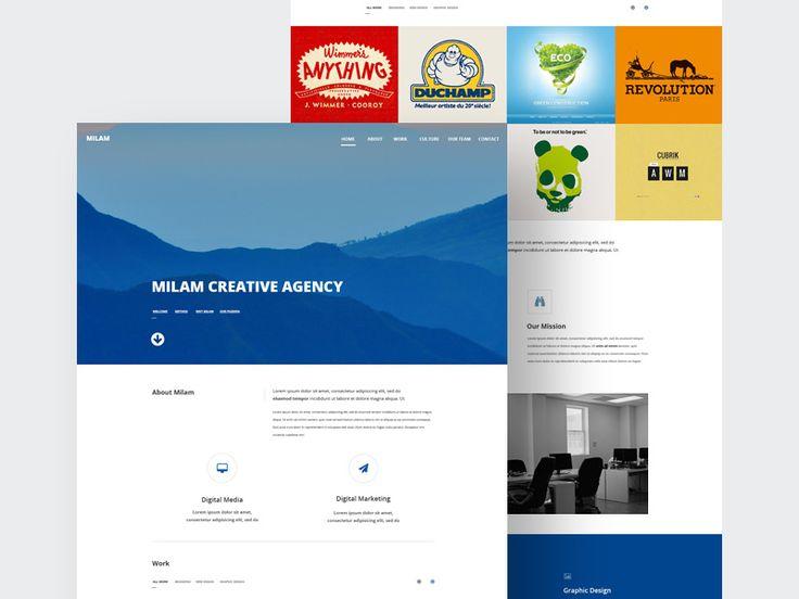 Milam Agency Website Template