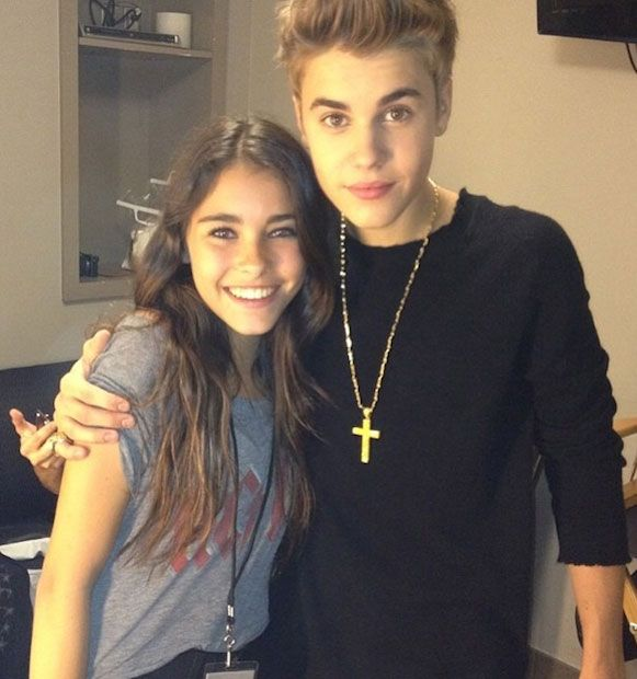 YouTube sensation Madison Beer with her idol Justin Bieber...