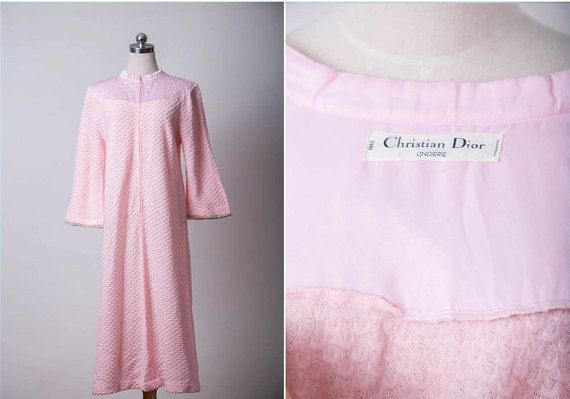 SALE 1960s Vintage Dior Nighty Dress / 60s Retro Dior by FATFAM