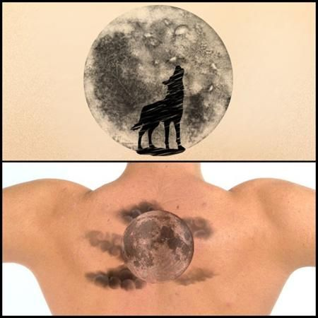 Realistic Moon Tattoo Pictures to pin on Pinterest