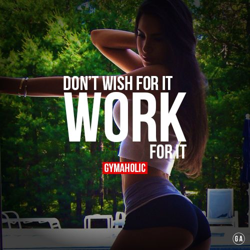 Work for it ! Jen Selter/www.gymaholic.co
