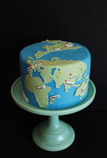 Map cake / Torta mapa