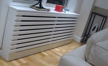 Large Radiator Cover/Cabinet Modern Style