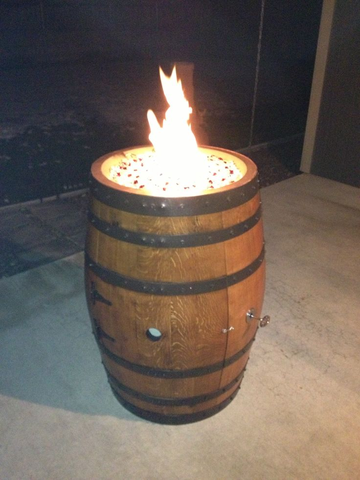 Wine barrel fire