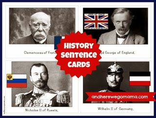 History Sentence Cards - Second Semester at And Here We Go!