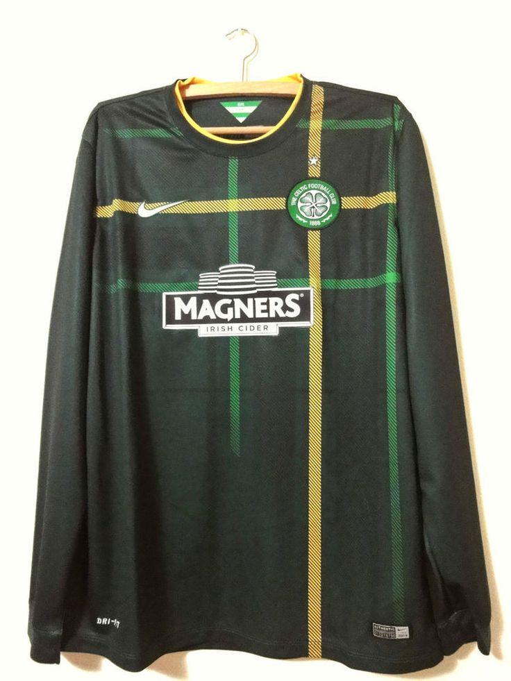 NEW Celtic Glasgow Nike green long sleeves Away shirt 2014-15