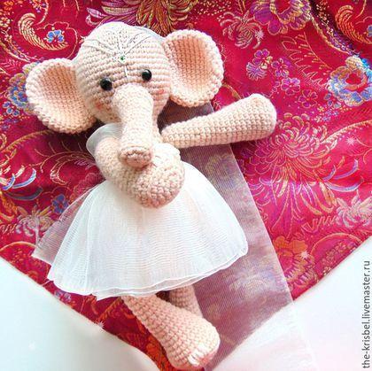 """Игрушки животные, ручной работы. Ярмарка Мастеров - ручная работа. Купить Авторская игрушка-слон """"Индийская Невеста"""". Handmade. Кремовый"""