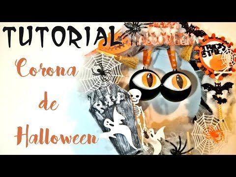 DIY corona de HALLOWEEN colaboración con CREAVEA - YouTube