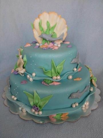"""Dolfijnen taart (Pagina 1) - Bruids- en Stapeltaarten - Het """"DeLeuksteTaarten"""" - forum"""