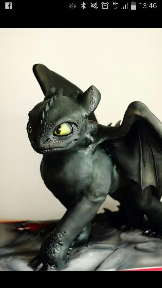 Toothless how to train your dragon sculpted cake