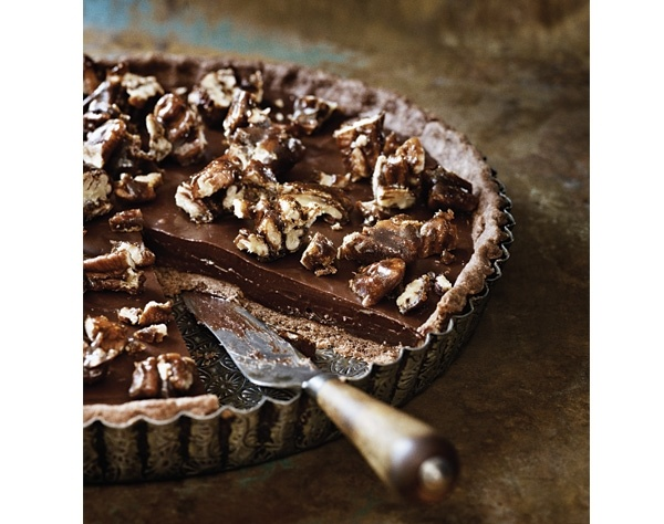 Sea-salted chocolate and pecan pie