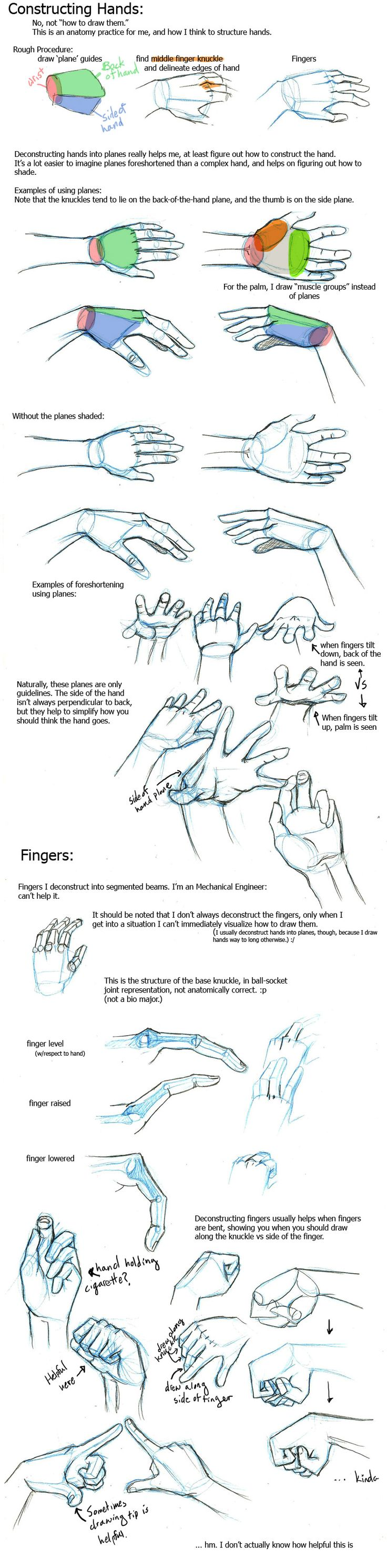 """Today's Drawing Class """"How to Draw Hands: Hands look complicated to draw but learn a few little tricks and you'll be drawing like the Masters"""