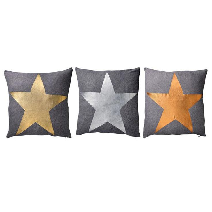 Bloomingville  Star Foil Cushion * Yours for only $59 AUD  www.granitelane.com.au