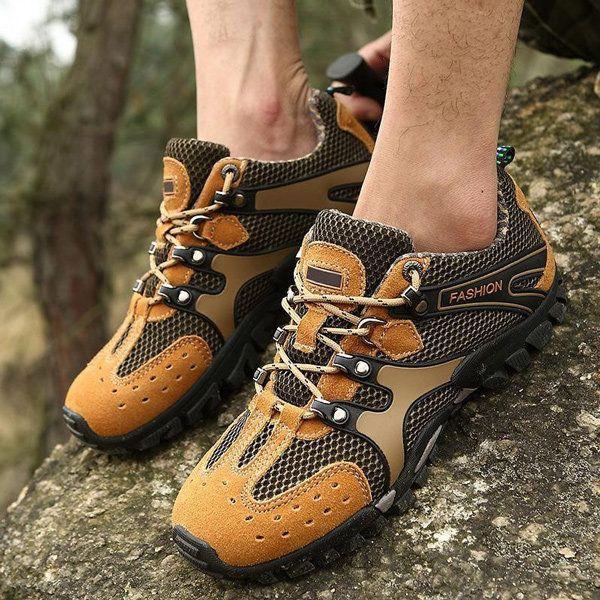 Men Athletic Running Sports Climbing Hiking Mesh Shoes.