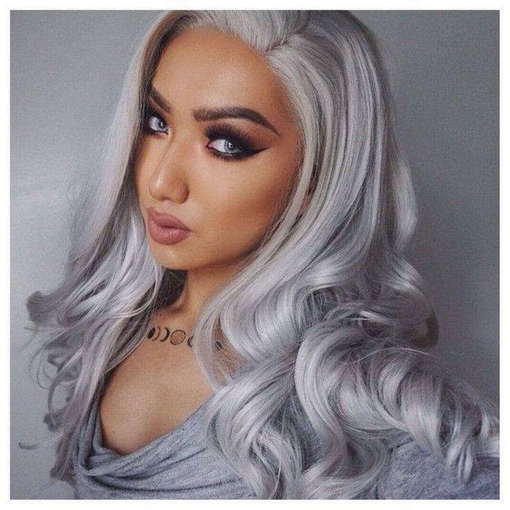 #graue Haare #silbernes Haar #Haarverlängerunge…