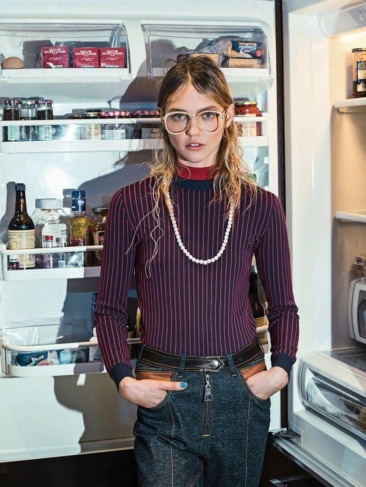 Sasha Pivovarova by Sebastian Kim for Vogue Korea May 2015 | The Fashionography