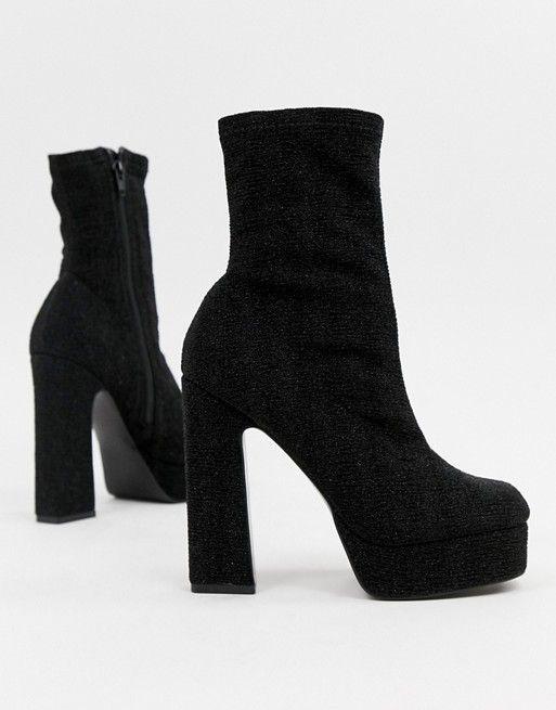 8c48ae15ffe1 DESIGN Exposed platform sock boots