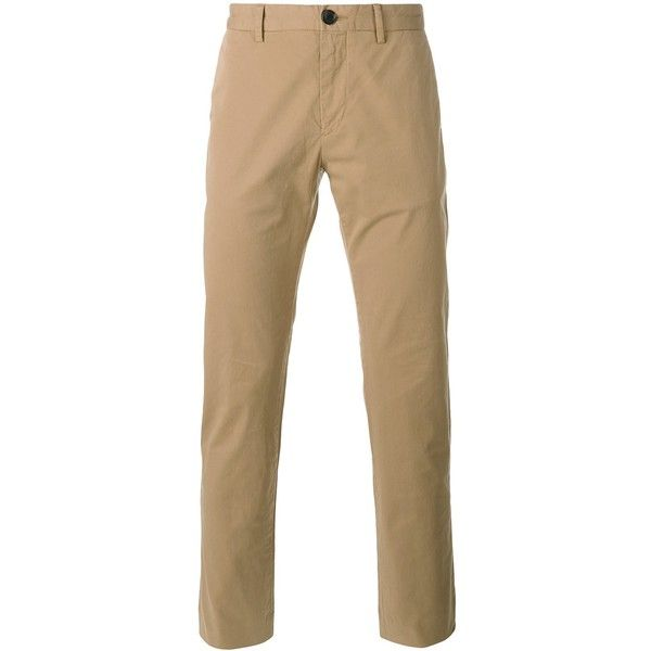 Paul Smith London classic chinos ($152) ❤ liked on Polyvore featuring men's fashion, men's clothing, men's pants, men's casual pants, beige, mens chino pants and mens chinos pants