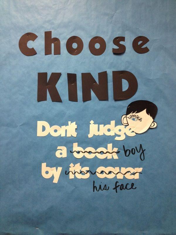"Choose KIND. ""Wonder"" bulletin board or door decor"