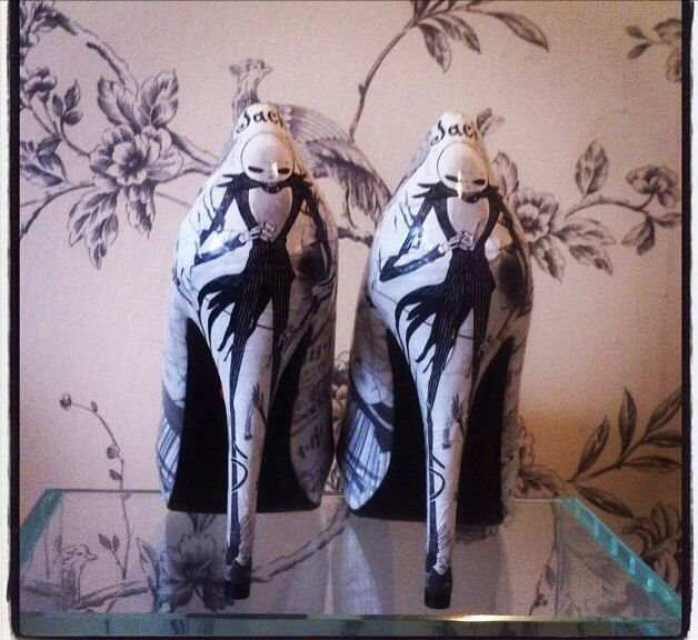 The nightmare before Christmas high heels by CherryBombBtq on Etsy https://www.etsy.com/listing/173882665/the-nightmare-before-christmas-high