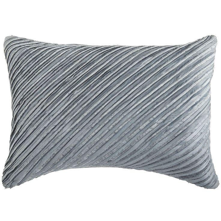 Smoke Blue Throw Pillow : Diagonal Velvet Stripe Lumbar Pillow - Smoke Blue Home Decor Pinterest Lumbar pillow ...
