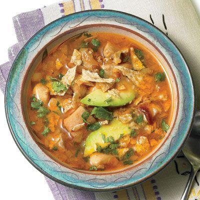 Crock pot Chicken Lime, Avocado, and Cilantro Soup - rachael ray