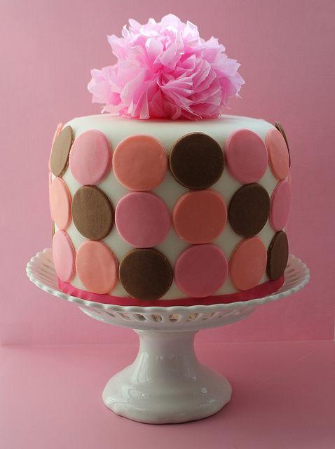Multi Color Circle Anniversary Cake