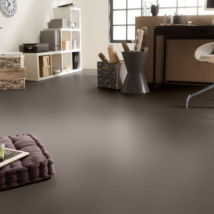 Rhino Style Taupe Plain Grey Vinyl Flooring