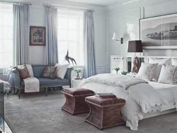Blue & Brown Master Bedroom Decorating Ideas