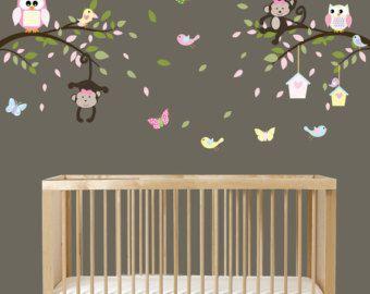 Mono rama pared calcomanía etiquetas de la rama por wallartdesign
