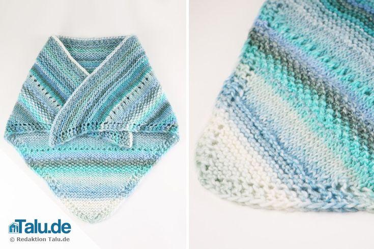 Tuch stricken – Anleitung für ein einfaches Schultertuch